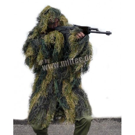 Ghillie Parka Anti Fire Woodland
