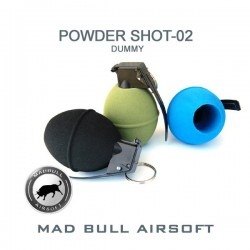 Håndgranat Mad Bull PowderShot 02 Dummy Sort