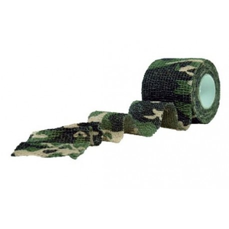 Camouflage stof rulle Woodland 4.5m