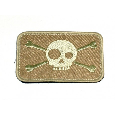Patch A.C.M Large Skull Tan