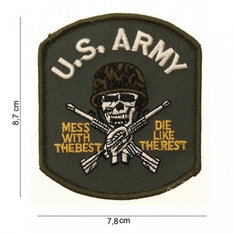 Patch US Army Skull Velcro