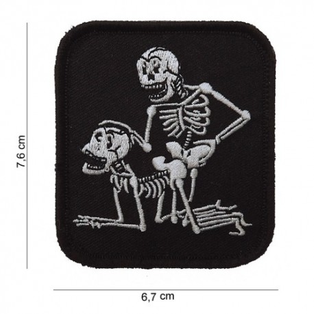 Patch Two Skeletons Velcro