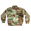 Fleece Jakke Woodland Camouflage M