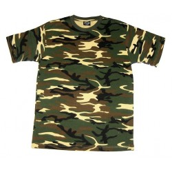 T-shirt Woodland Camouflage Small
