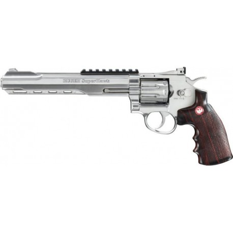 Softgun Pistol Umarex Ruger Super Hawk 8'' Sølv Co2