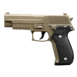 Softgun pistol Galaxy G26 Tan Metal