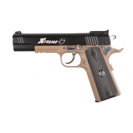 Airsoft pistol G&G Xtreme 45 Half-Tan Blowback Co2