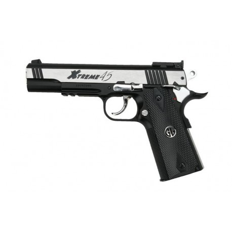 Airsoft pistol G&G Xtreme 45 Silver Blowback Co2