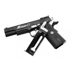 Airsoft pistol G&G Xtreme 45 Black Blowback Co2
