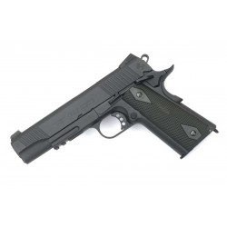 Hardball pistol Cybergun Colt 1911 Rail Gun Sort GBB Co2