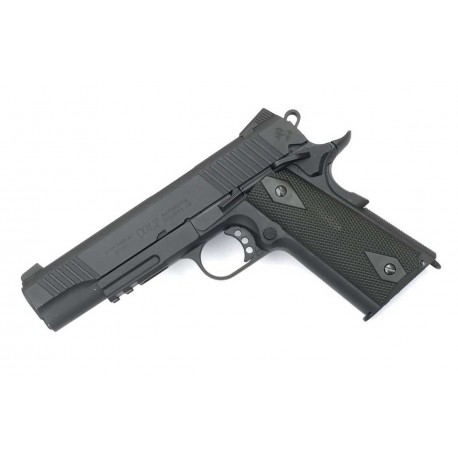 Softgun pistol Cybergun Colt 1911 Rail Gun Sort GBB Co2