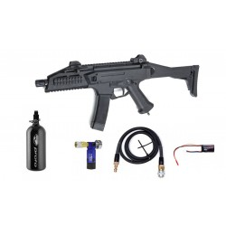 Hardball gevær ASG Scorpion EVO 3A1 HPA Bundle