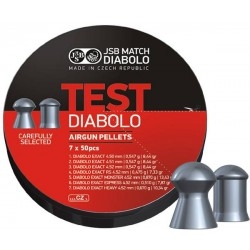 JSB Test Diabolo Mix 4,5mm hagl 7x50 stk