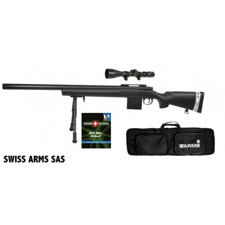 Airsoft sniper Swiss Arms SAS 04 Sort Manuel