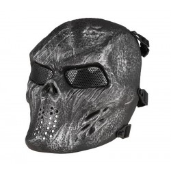 Tactical Skull Mask Sort/Sølv