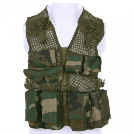 Vest Kids Tactical Woodland
