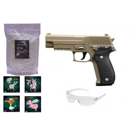 Galaxy G26 Tan Metal softgun pistol pakke tilbud