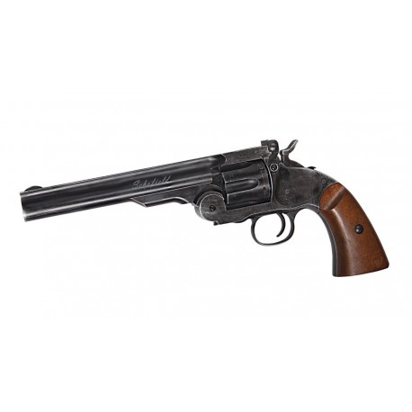 Airsoft Revolver ASG Schofield 6'' Aging Black Co2