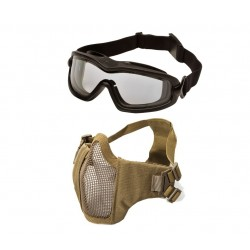 Tactical Brille/Maske bundle Tan