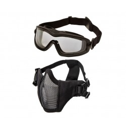 Tactical Brille/Maske bundle Sort
