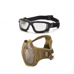 Dual Lens Brille/Maske bundle Tan