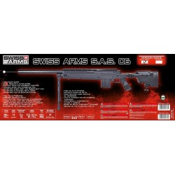 Airsoft sniper Swiss Arms SAS 06 Sort Manuel