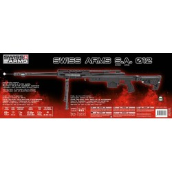 Airsoft sniper Swiss Arms SAS 12 Sort Manuel