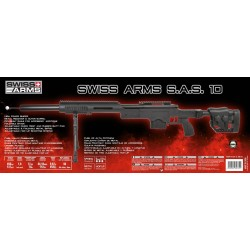 Airsoft sniper Swiss Arms SAS 10 Sort Manuel