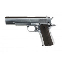 Hardball pistol AW Custom Colt 1911 Silver Metal Blowback Gas