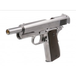 Hardball pistol Cybergun Colt 1911 Silver Metal Blowback Gas
