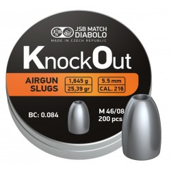 JSB Knock Out Slugs 5,5mm hagl 200 stk
