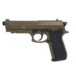 Airsoft pistol Cybergun Fire Line PT92 Tan metal slæde
