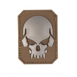 Patch 3D Skull PVC Coyote Small