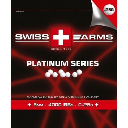 Swiss Arms Platinum BB6 kugler 0,25g 4000 stk i pose