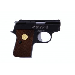 Softgun pistol Colt .25 Sort Blowback Gas