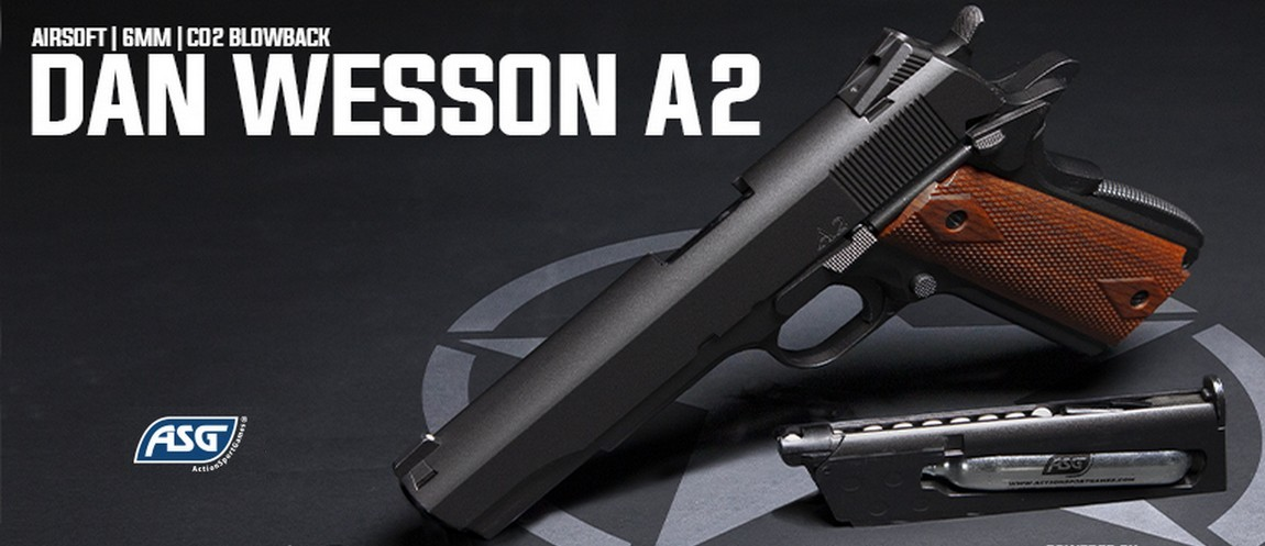 Nyhed ! Dan Wesson A2 hardball pistol fra ActionSportGames
